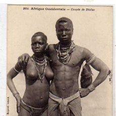 Postales: 1054 ÁFRICA OCCIDENTAL. PAREJA DIOLA. COLLECTION GENERALES FORTIER. DAKAR. SIN CIRCULAR.. Lote 48115823