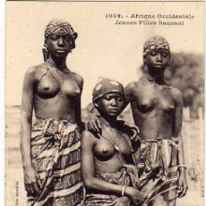 Postales: 1039 ÁFRICA OCCIDENTAL. JOVENES CHICAS SOUSSOU. COLLECTION GENERALES FORTIER. DAKAR. SIN CIRCULAR.. Lote 48117107