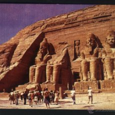 Postales: A-1242- EGIPTO. EGYPTE. EGYPT. ABU - SIMBEL. GENERAL VIEW OF THE TEMPLE. Lote 48368834