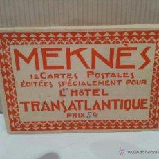 Postales: ANTIGUO PAK DE POSTALES MEKNES MARRUECOS CONTIENE 11 POSTALES ORIGINALES VER FOTOS. Lote 49626177