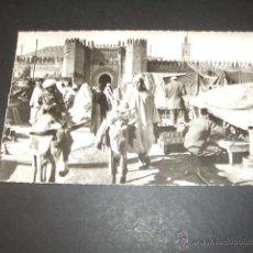 Postales: FES MARRUECOS LE SOUK PLACE EL BAGHADI. Lote 49700384