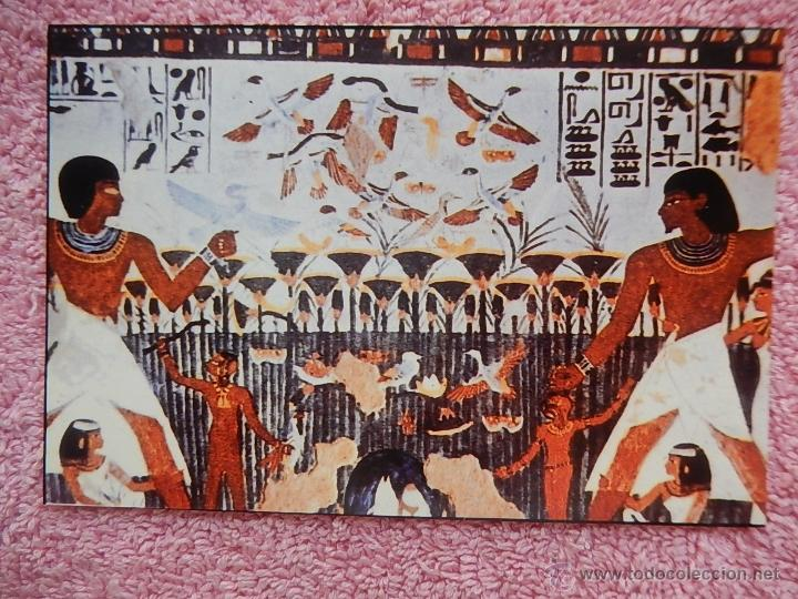TUMBA DE MENNA TUMBAS DE LOS NOBLES LUXOR 1992 CAIRO Z-ART INGLÉS ALEMÁN ARABE (Postales - Postales Extranjero - África)