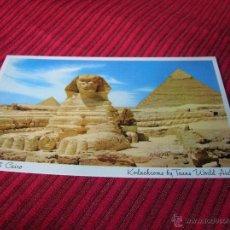 Postales: POSTAL DE LAS PIRÁMIDES DE EGIPTO. Lote 50926360
