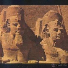 Postales: ABU SIMBEL *ROCK TEMPLE OF RAMSES II...* SIN DATOS EDITOR. NUEVA.. Lote 105086631