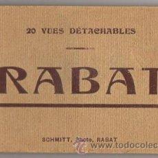 Postales: 20 VUES DÉTACHABLES RABAT. MARRUECOS. SCHMITT PHOTO. CIRCA 1940. Lote 52413110