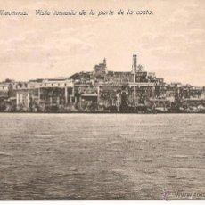 Postales: POSTAL DE PEÑÓN DE ALHUCEMAS. VISTA TOMADA DE LA PARTE DE LA COSTA. ED. BOIX HERMANOS. . Lote 53021287