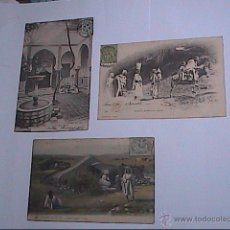 Postales: LOTE 3 POSTALES ARGELIA. 1904-1905-1906. ESCENAS ÁRABES.PROTECTORADO FRANCÉS.. Lote 53188173