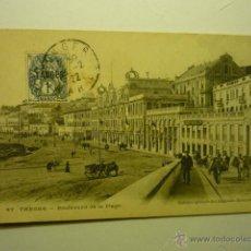 Postales: POSTAL TANGER- BOULEVARD DE LA PLAGE BB. Lote 54006507