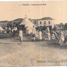 Postales: TARJETA POSTAL DE TETUAN. CAMPEMENT DE CAÏD.. Lote 166687946