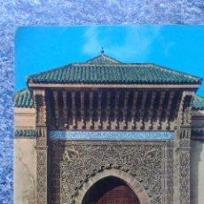 Postales: PUERTA DEL MAUSOLEO MOULAY ISMAIL - MEKINES - 562. Lote 54220167