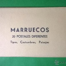 Postales: LENHERT & LANDROCK - ALBUM MARRUECOS. TIPOS, COSTUMBRES, PAISAJES. 20 POSTALES. Lote 54704855