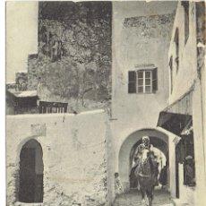 Postales: PS5796 TÁNGER 'UNA CALLEJUELA DE LA ALCAZABA'. A. ARÉVALO. CIRCULADA EN 1907. Lote 48868551