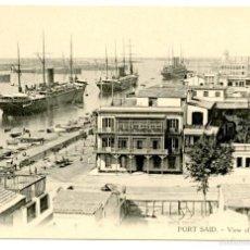 Postales: EGIPTO, VISTA DEL PUERTO DE PORT-SAID, HACIA 1910. BARCOS. Lote 55705708