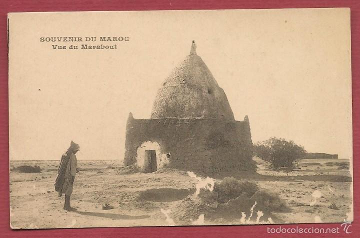 POSTAL SOUVENIR DU MAROC VUE DU MARABOUT (Postales - Postales Extranjero - África)