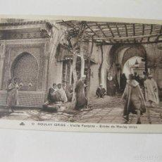 Postales: POSTAL DE MOULAY IDRISS - MARRUECOS - VIEILLE FONTAINE - ENTREE DE MOULAY IDRISS. Lote 57686696