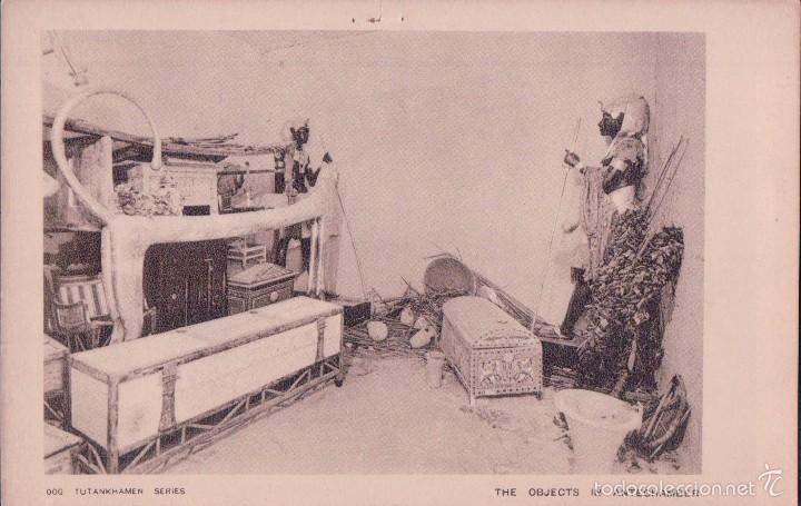 POSTAL EGIPTO.- TUTANKAMON SERIES 006. OBJETOS DE LA ANTECAMARA DE LA TUMBA (Postales - Postales Extranjero - África)