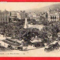 Postales: ARGELIA -ORAN - LA PLACE D'ARMES - ED. LL - TRANVÍA / CARRO - BONAL - PHARMACIE A. SAINTON - AÑOS 20. Lote 61933608