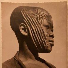 Postales: BRAZZAVILLE CONGO NIÑO1952 CON IMPORTANTES ESCARIFICACIONES FACIALES PERFIL FOTOGRAFO HOORGUI. Lote 63088040