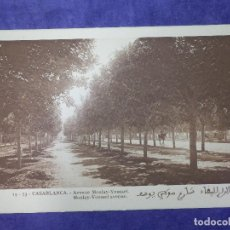 Postales: POSTAL - AFRICA - 19 - 53 - CASABLANCA - AVENUE MOULAY-YOUSSEF - FOT. FLANDRIN - NUEVA -. Lote 63770251