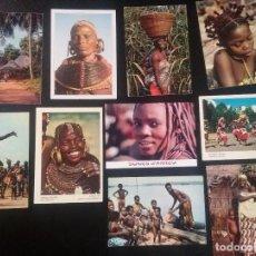 Postales: LOTE DE 10 POSTALES AFRIQUE EN COULEURS CASI TODAS SIN CIRCULAR , VER FOTOS. Lote 66823330