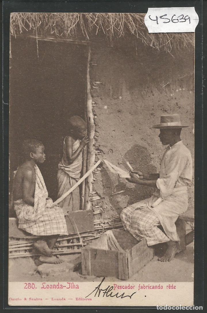 ANGOLA - POSTAL ANTIGUA - ETNICA COSTUMBRISTA -VER REVERSO -(45.639) (Postales - Postales Extranjero - África)