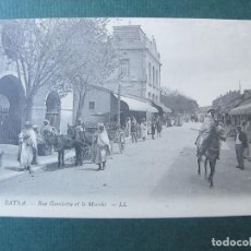 Postales: POSTAL DE ARGELIA-BATNA-RUE GAMBETTA ET LE MARCHÉ. Lote 70524157