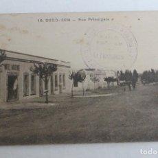 Postales: POSTAL OUED-ZEM, RUE PRINCIPALES, HOTEL MODERNE, MARRUECOS, PRINCIPIOS SIGLO XX. Lote 71195249