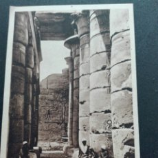 Postales: THEBES INTERIOR DEL RAMESSEUM. Lote 71582847