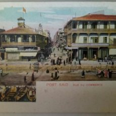Postales: POSTAL EGIPTO 1915 PORT SAID CALLE DEL COMERCIO. Lote 82461527