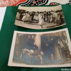 Postales: LOTE DE 2 POSTALES MÚSICOS YEBENIES Y MARRUECOS. Lote 83564079