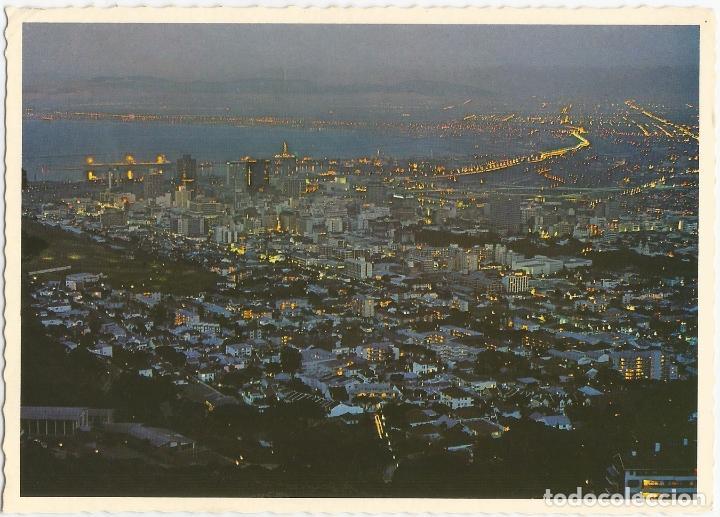 Sudafrica Ciudad Del Cabo Vista Nocturna Gene Comprar Postales