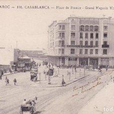 Postales: POSTAL LE MAROC -101. CASABLANCA - PLAZA DE FRANCIA. Lote 84849160