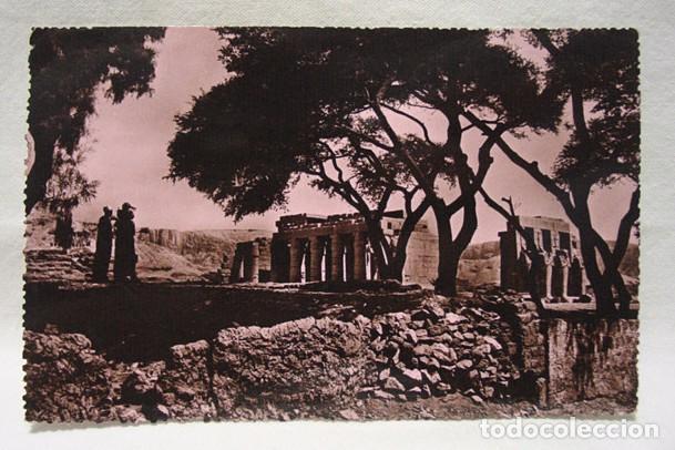 (XAF-5) POSTAL FOTOGRÁFICA EGIPTO LUXOR LE TEMPLE DE RAMASSEUM  TEMPLO-ED   SOLLY-FOTOCELE-CIRCA 1940