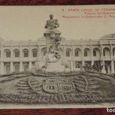 Postales: SANTA ISABEL DE FERNANDO POO (GUINEA ECUATORIAL) PALACIO DEL GOBIERNO Y MONUMENTO AL GOBERNADOR D. A. Lote 88505160