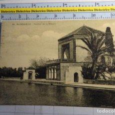 Postales: POSTAL DE MARRUECOS. AÑOS 10 30. MARRAKECH, PAVILLON DE LA MENARA. 2744. Lote 90221972