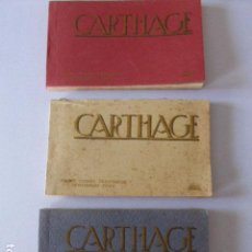 Postales: CARTHAGE. LOTE DE 3 BLOCS DE POSTALES. MUSEE LAVIGERIE.. Lote 94211875
