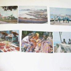 Postales: LOTE DE 6 POSTALES DE GHANA - AÑOS 60 - AFRICA. Lote 171467084