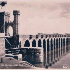 Postales: POSTAL EGYPT REAL PHOTO BRIDGE PONT BARRAGE DU DELTA DU NILE NEAR CAIRO - OLD POSTCARD SEPIA PHOTO. Lote 96895639