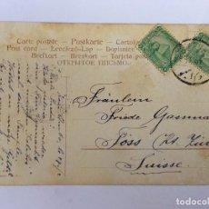 Postales: RM400 ANTIGUA POSTAL ORIGINAL CIRCULADA SELLO Y MATASELLO P.P.S.XX EGIPTO 1906 APROX.. Lote 96968035