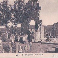 Postales: VOLUBILIS - RUINES ROMAINES. Lote 98328059