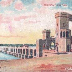 Postales: EGYPTE LE CAIRE NILE BARRAGE NEAR CAIRO LICHTENSTERN & HARARI N° 12 - POSTAL EGYPTO. Lote 98335875