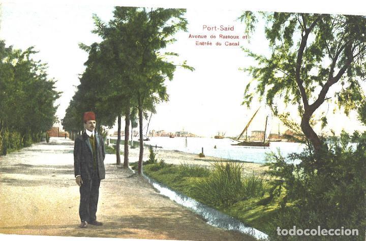 EGIPTO. PORT SAID. CANAL DE SUEZ, 1910 (Postales - Postales Extranjero - África)