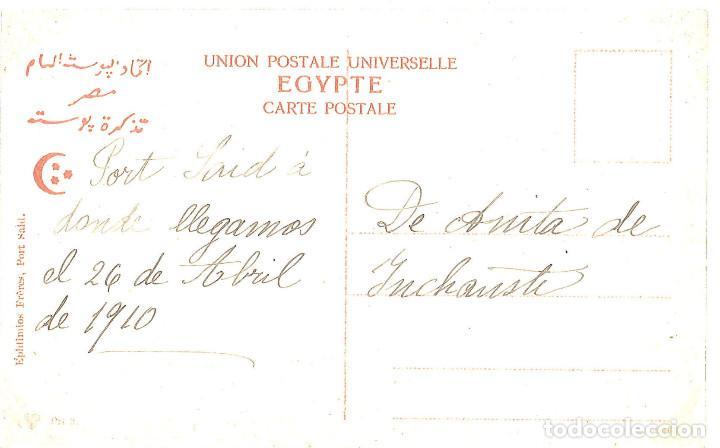 Postales: Egipto. Port Said. Canal de Suez, 1910 - Foto 2 - 98705607