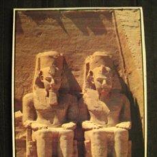 Postales: POSTAL EGIPTO - ABU SIMBEL FOUR STATU OF RAMSES II.. Lote 100375415