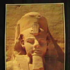 Postales: POSTAL EGIPTO - ABU SIMBEL THE TEMPLE OF ABU SIMBEL.. Lote 100450443