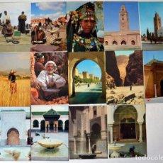 Postales: EXCELENTE LOTE DE 35 POSTALES DE MARRUECOS. Lote 100541123