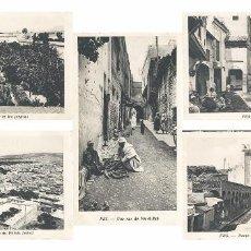Postales: LOTE DE 5 POSTALES DE FEZ-MARRUECOS. Lote 101730123