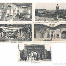 Postales: LOTE DE 5 POSTALES DE FEZ-MARRUECOS. Lote 101730275