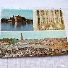 Postales: POSTAL - MARRUECOS - BASSIN DE LA MENARA, TOMBEAUX SAADIENS, VUE GERERALE. Lote 104189191