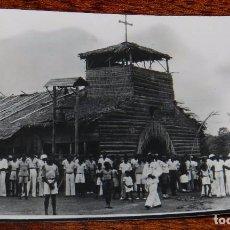 Postales: FOTO POSTAL DE GUINEA ECUATORIAL ESPAÑOLA, IGLESIA DE NIPA, FOTO H. GARCIA, SIN CIRCULAR. Lote 104263031